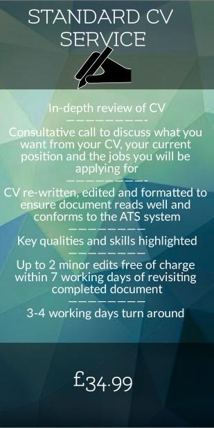 Standard CV Service, CV Writing, CV Editing, Best CV writing service uk