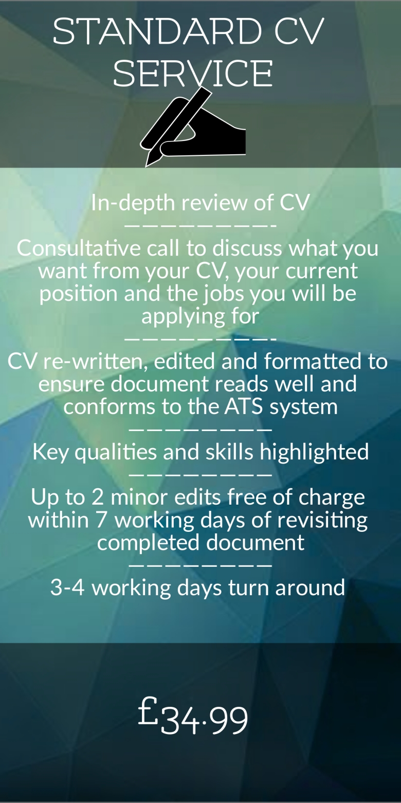 Standard CV Service, CV Writing, Resume Writing, CV, Resume